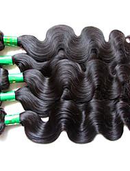 """Недорогие -5 Связок Индийские волосы Естественные кудри Не подвергавшиеся окрашиванию Необработанные натуральные волосы Человека ткет Волосы 10""""~28"""" Нейтральный Ткет человеческих волос"""