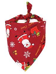 Недорогие -Собаки Шарф для собаки Зима Одежда для собак Белый Зеленый Красный Рождество Костюм Большая собака Полиэстер Рождество Дед Мороз Косплей XL