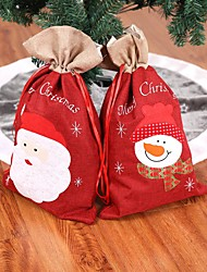cheap -New Year Christmas Gifts Santa Claus Snowman Candy Bags Hanging Bag Merry Christmas Storage