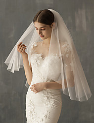 cheap -Two-tier Sweet Wedding Veil Elbow Veils with Solid Tulle / Drop Veil