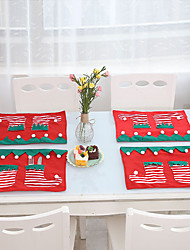 cheap -Christmas Ornaments Tableware Dishes Knives Forks Cutlery Mat For Home Christmas New Year Table Decoration Accessories