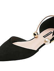 cheap -Women's Flats Flat Heel Pointed Toe Suede Fall / Spring & Summer Black / Wine / Almond