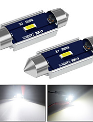 cheap -31mm 36mm 39mm 41mm Canbus LED Light Super Bright  12V DC 500LM White for Reading Door Glove Box License Plate Boot Light 2pcs
