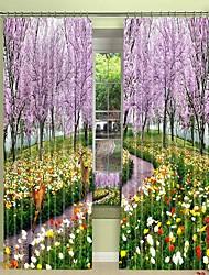 abordables -sika cerf numérique impression sous cerisier 3d rideau ombrage rideau haute précision noir tissu de soie haute qualité rideau