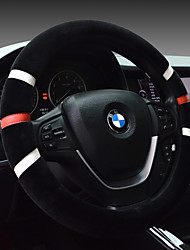 cheap -Comfortable driving car steering wheel set winter plush Universal maintenance color wear-resistant short plush cute