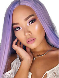 cheap -Synthetic Lace Front Wig Straight Middle Part Lace Front Wig Long Purple Synthetic Hair 18-26 inch Women's Adjustable Heat Resistant Party Purple