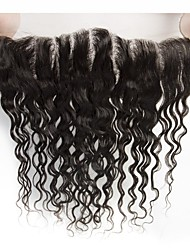 cheap -Yavida Brazilian Hair 4x13 Closure / Free Part Wet Free Part Swiss Lace Human Hair All with Baby Hair / Silky / African American Wig Wedding / Congratulations / Event / Party