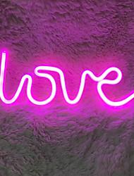 voordelige -liefde vormige led-verlichting warm roze licht wit plastic liefde regenboog vleermuis vorm licht batterij usb tweeërlei gebruik modellen lamp home decor