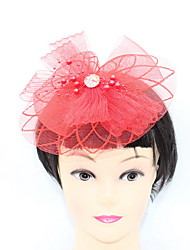 cheap -Net / Beads / Alloy Flowers / Headwear with Trim 1 Piece Special Occasion / Party / Evening Headpiece