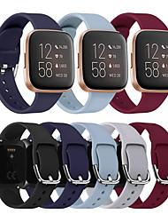 cheap -Watch Band For Fitbit Versa / Fitbit Versa Lite / Fitbit Versa 2 Fitbit Sport Band / Classic Buckle / Modern Buckle Silicone Wrist Strap