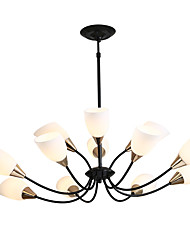 cheap -Industrial / Novelty Chandelier Uplight Painted Finishes Metal Glass Creative, New Design 110-120V / 220-240V