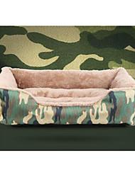 Недорогие -Кошка Собака Матрас Кровати Одеяла Коврики и подушки Ткань Мягкий камуфляж Камуфляж цвета