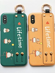 cheap -Cartoon Three Lambs iPhone Xs max Mobile Phone Shell Female Models XR Soft Silicone Sleeve X All-inclusive Shatter-resistant 6Plus Wristband 7Plus Shell 8Plus Ultra-thin Eight Korea