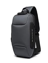 cheap -Men's Zipper Oxford Cloth Sling Shoulder Bag Solid Color Black / Army Green / Red