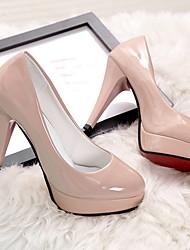 cheap -Women's Heels Stiletto Heel Round Toe Daily PU Summer Almond / White / Black
