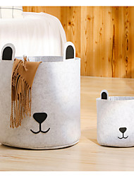 cheap -Felt Foldable Clothes Storage Basket Cat&Dog