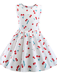 cheap -Audrey Hepburn Party Costume JSK / Jumper Skirt Kid's Girls' Retro Vintage Halloween Halloween Festival / Holiday Polyster White Carnival Costumes / Dress