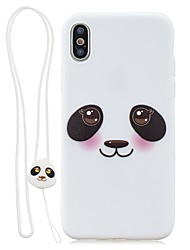 cheap -Case For Apple iPhone XS / iPhone XR / iPhone X Ultra-thin / Pattern Back Cover Panda TPU