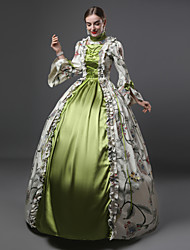 cheap -Rococo Victorian 18th Century Dress Women's Costume Green Vintage Cosplay 3/4-Length Sleeve Floor Length Long Length Ball Gown Plus Size Customized