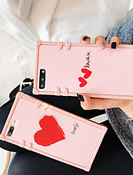 cheap -Apple Applicable to XS Max/XR/X Pink Double Love 6/7/8 Quad Ripple 6 Plus/7 Plus/8 Plus Trendy Half Pack Mobile Shell
