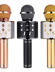 cheap -WS858 Microphone Wireless Bluetooth Karaoke  Microphone USB KTV Player Mobile Phone Player Mic Speaker Record Music
