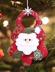 Недорогие -4шт нетканый рождественский кулон трехмерные украшения кулон санта клаус