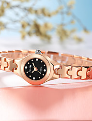 cheap -New Fashion Women's Quartz Watches Synthetic Diamond Luxury Golden Small Dial Analog Wristwatch For Ladies Bracelet Watches