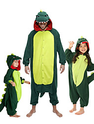 cheap -Kid's Kigurumi Pajamas Dinosaur Animal Onesie Pajamas Flannel Toison Green / Red Cosplay For Boys and Girls Animal Sleepwear Cartoon Festival / Holiday Costumes