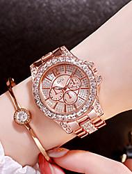 Недорогие -Жен. Эксклюзивные часы Diamond Watch золотые часы Японский Кварцевый Нержавеющая сталь Серебристый металл / Золотистый / Розовое золото Аналоговый Дамы Кулоны Мода Bling Bling -