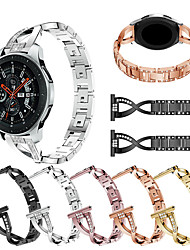 cheap -Metal Stainless Steel Watch Band For Samsung Galaxy Watch 46mm / Gear S3 Frontier / Classic Replaceable Diamond Jewelry Bracelet Wrist Strap Wristband