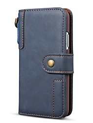 cheap -Phone Case For Apple Full Body Case Leather Wallet Card iPhone 12 Pro Max 11 SE 2020 X XR XS Max 8 7 6 Wallet Card Holder Shockproof Solid Color Genuine Leather