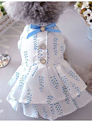 cheap -Dogs Cats Pets Dress Dog Clothes Blue Coffee Costume Baby Small Dog Polyster Lolita Fashion XS S M L XL