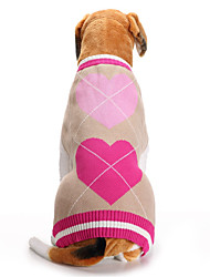 cheap -Dog Sweater Puppy Clothes Love Sweet Style Winter Dog Clothes Puppy Clothes Dog Outfits Pink Costume for Girl and Boy Dog Acrylic Fibers XXS XS S M L XL