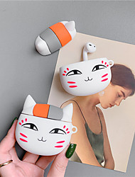 cheap -Cute Cat Bluetooth Earphone Case For Apple Airpods Cover Cartoon Silicone Headphone Case Box For Air pods Headset Charging Cover
