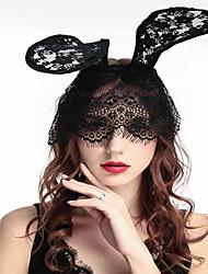 cheap -Halloween Party Show Props Headdress Rabbit Ears Hairpin