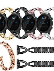 cheap -Jewelry Diamond Watch Band For Garmin Vivoactive 3 / Forerunner 645 / 245 / Vivomove HR / Venu Replaceable Stainless Steel Bracelet Wrist Strap Wristband