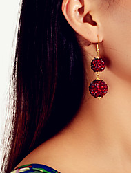 cheap -Women's Earrings Geometrical Ball Vintage Tropical Trendy Cute Africa Earrings Jewelry Burgundy For Anniversary Gift Stage Club Bar 1 Pair