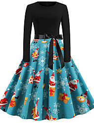 cheap -Audrey Hepburn Dress Adults' Women's Retro Vintage Christmas Christmas Festival / Holiday Polyester Black Women's Carnival Costumes