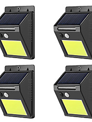 cheap -ZDM® 4pcs 3 W Solar Wall Light Waterproof / New Design / Light Control Cold White 3.7 V Outdoor Lighting / Swimming pool / Courtyard 48 LED Beads