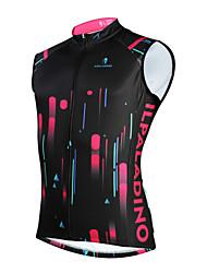 cheap -ILPALADINO Men's Sleeveless Cycling Vest Winter Fleece Black Bike UV Resistant Fleece Lining Sports Mountain Bike MTB Clothing Apparel / Micro-elastic