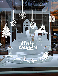 cheap -Window Film & Stickers Decoration Patterned / Christmas Holiday / Character PVC(PolyVinyl Chloride) Window Sticker / Door Sticker