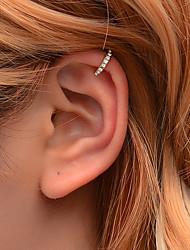 cheap -Women's Ear Cuff Briolette Cross Earrings Jewelry Gold / Silver For Festival