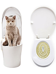 cheap -Cat Toilet Training Kit Pet Kitty Potty Train System Training Toilet Tray Pet Supplies Toilet Training Kit Seat