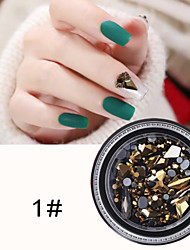 cheap -1 pcs Best Quality Rhinestone Nail Jewelry Rhinestones For Finger Nail Creative 3D nail art Manicure Pedicure Christmas / Special Occasion / Halloween Trendy / Fashion