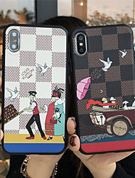 cheap -Case For Apple iPhone 11 / iPhone 11 Pro / iPhone 11 Pro Max Frosted / Embossed / Pattern Back Cover Cartoon TPU
