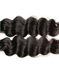 "cheap -2 Bundles Indian Hair Body Wave Virgin Human Hair Unprocessed Human Hair Natural Color Hair Weaves / Hair Bulk 10""~28"" Natural Human Hair Weaves Natural Best Quality For Black Women Human Hair"