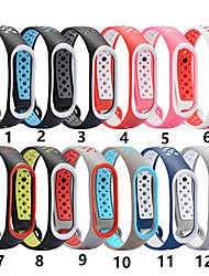 cheap -For Xiaomi MI Band 4 3 Soft Replacement Wristband Watch Band Strap Bracelet