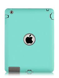 Недорогие -Кейс для Назначение Apple iPad Air / iPad 4/3/2 / iPad Mini 3/2/1 Детский Безопасный случай Бампер Однотонный пластик