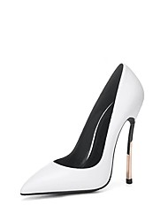 cheap -Women's Heels Stiletto Heel Pointed Toe Patent Leather Spring &  Fall White