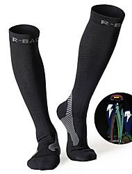 cheap -Compression Socks Athletic Sports Socks Running Socks 1 Pair Men's Women's Tube Socks Socks Long Socks Fitness, Running & Yoga Sports Running Sports Simple Chinlon Cotton Black Fuchsia Green